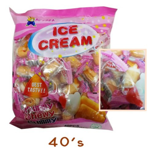 image of Ice Cream Gummy Candy 40'S