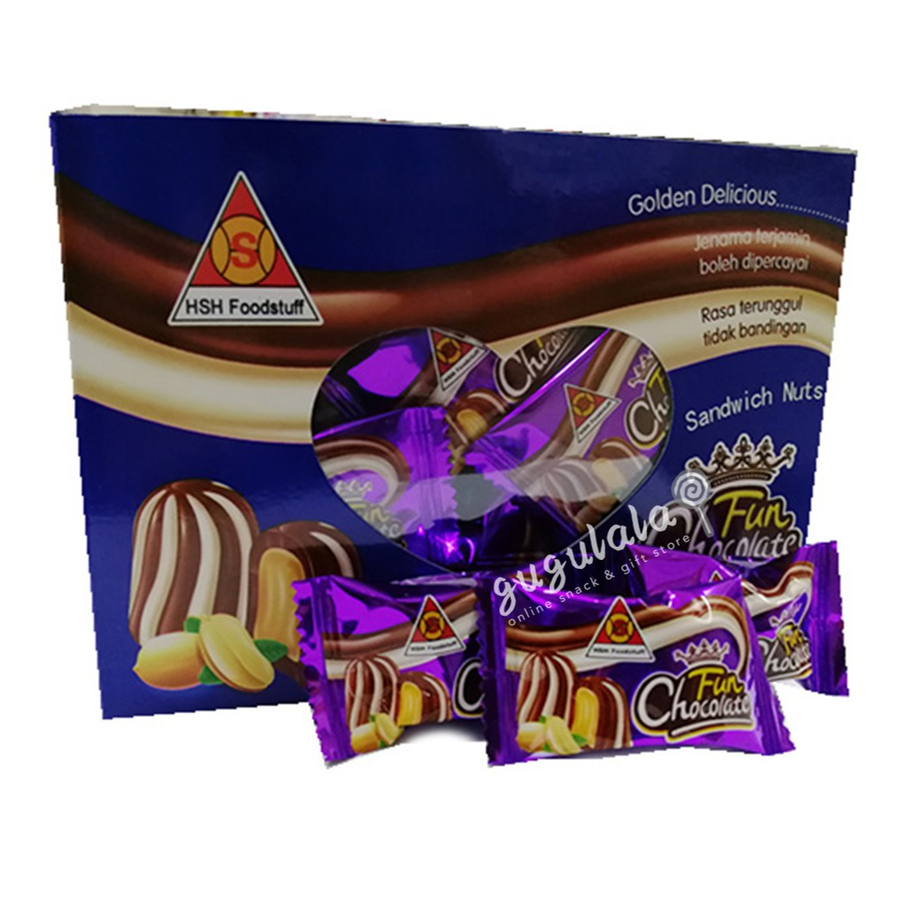 image of Fun Chocolate Sandwich Nuts 400g
