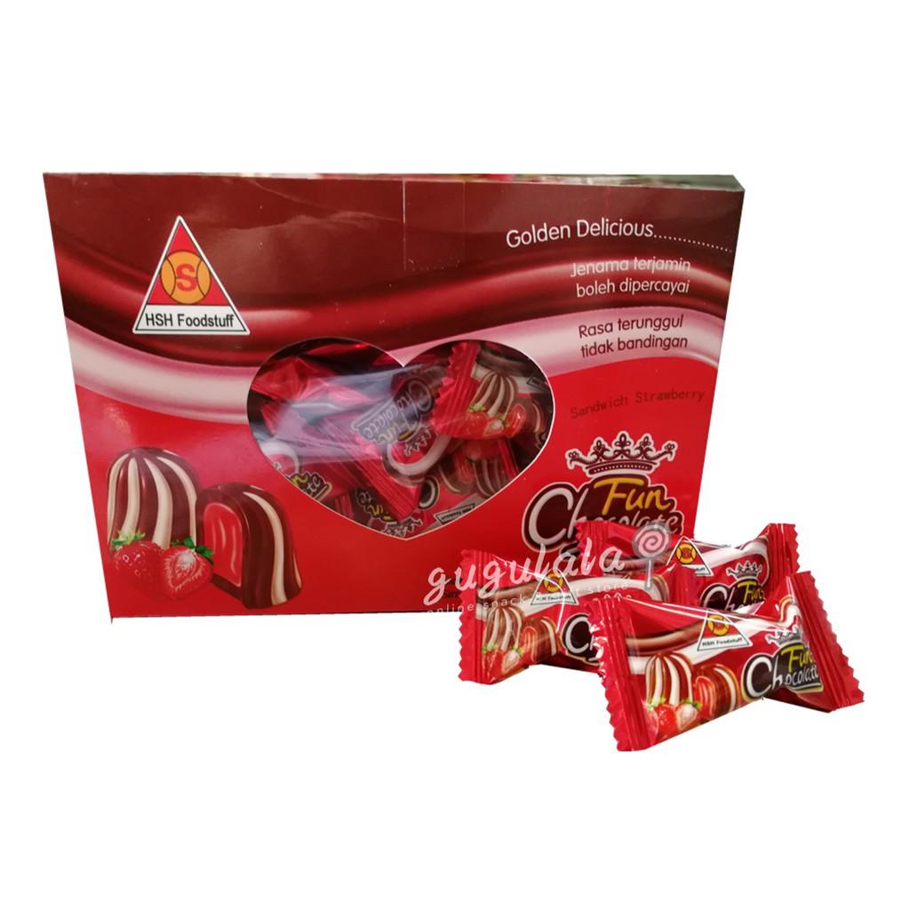 image of Fun Chocolate Sandwich Strawberry 400g
