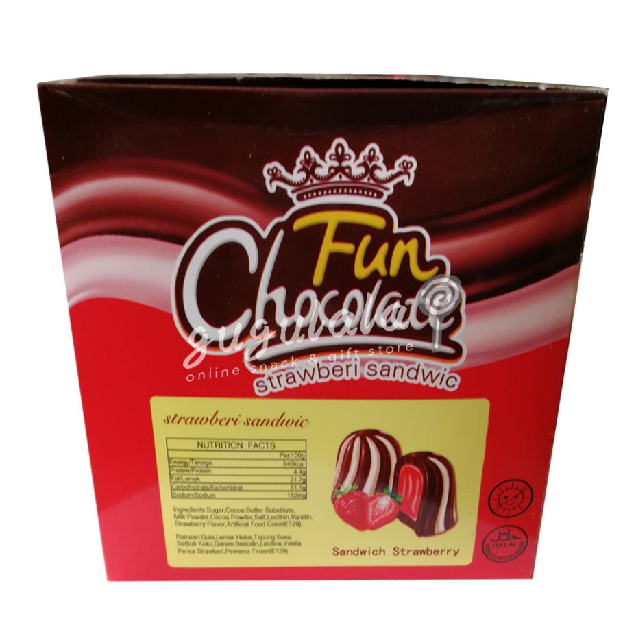 Fun Chocolate Sandwich Strawberry 400g