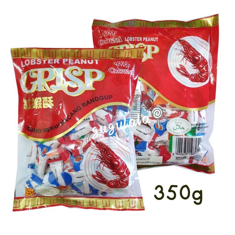 Crowna Lobster Peanut Crisp 红虾酥 350g