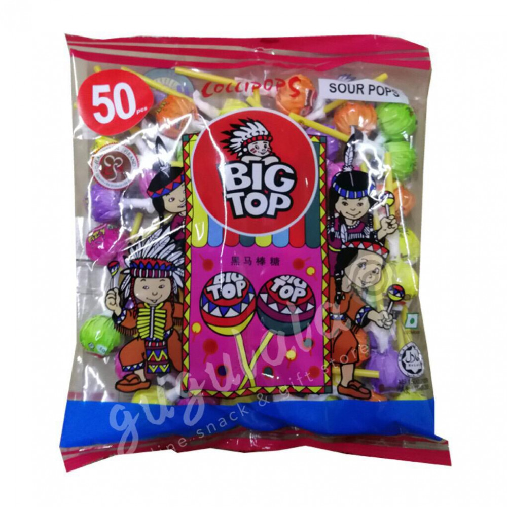 Big Top Sour Lollipop 50'S