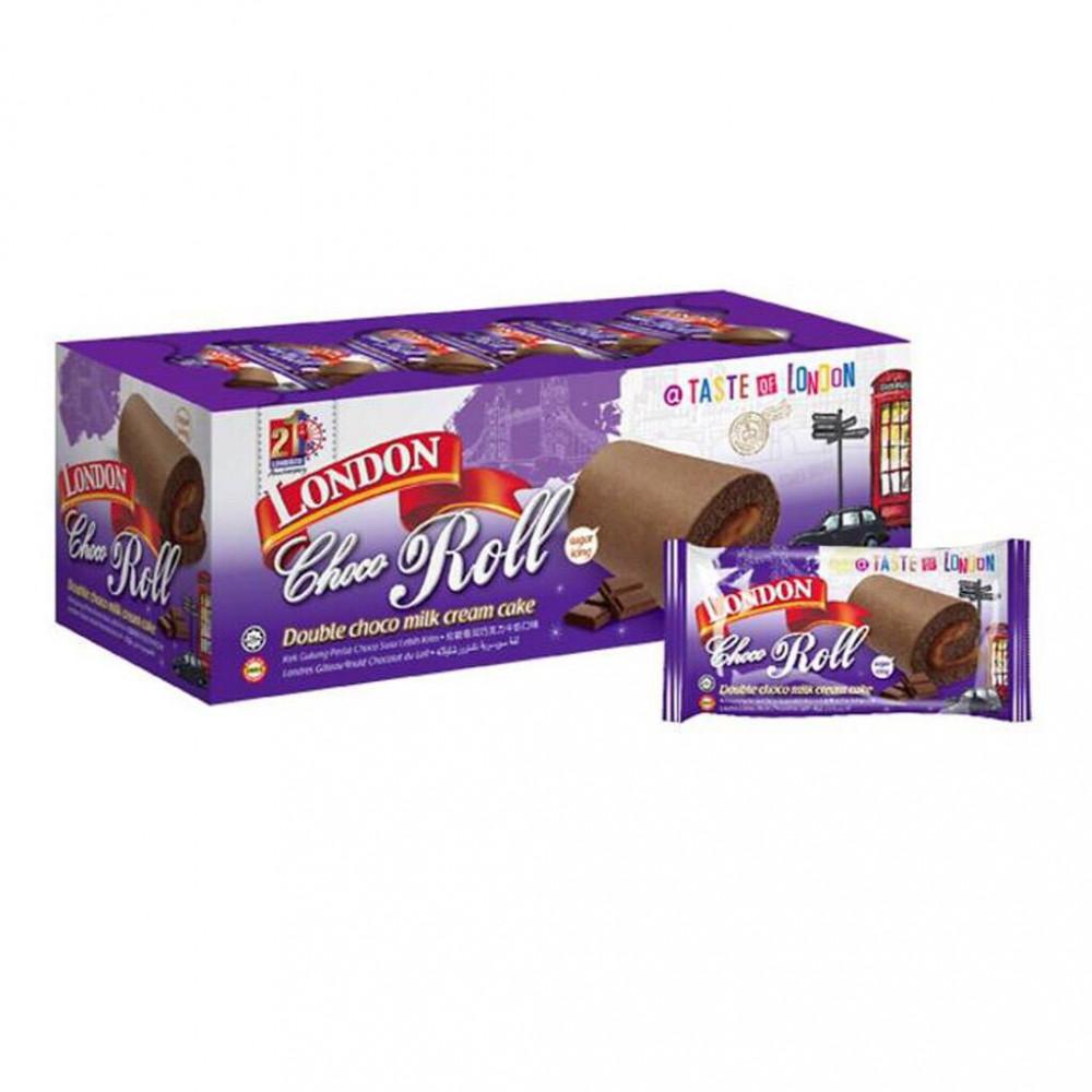 London Roll Double Choco Milk Flavour Cake 24'S X20g