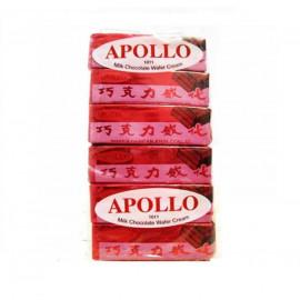 image of Apollo Milk Chocolate Wafer 12g X 12
