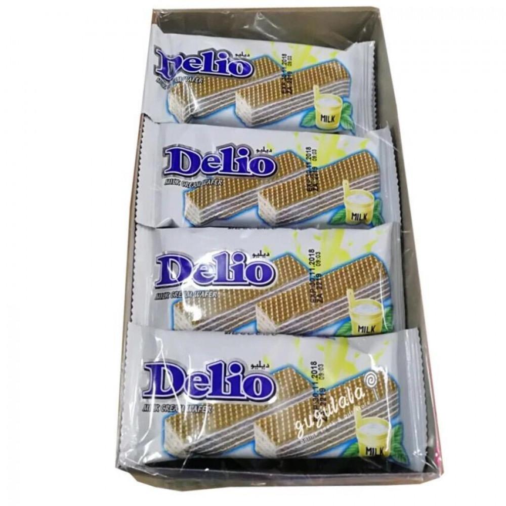 Delio Wafer Milk 24'S