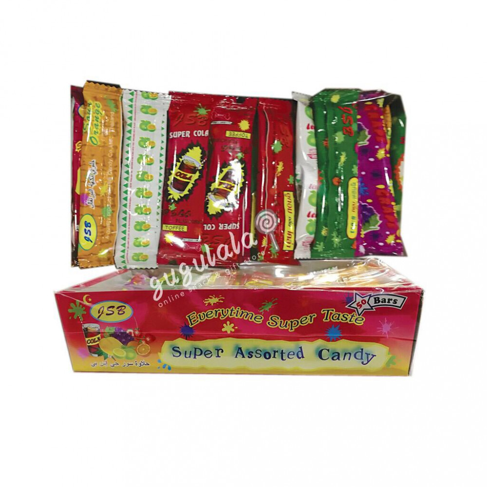 JSB Super Assorted Candy 50'S X 6g