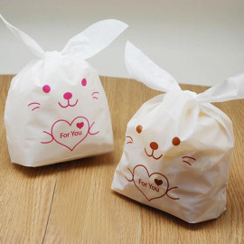 image of Cute Rabbit Goodies Bag ( Door Gift ) Cookies Packaging Size (L) - 10'S