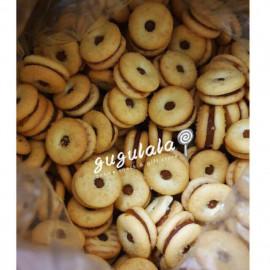 image of Thai Mini Donut Pineapple Jam Biscuits 泰国进口黄梨饼 280g