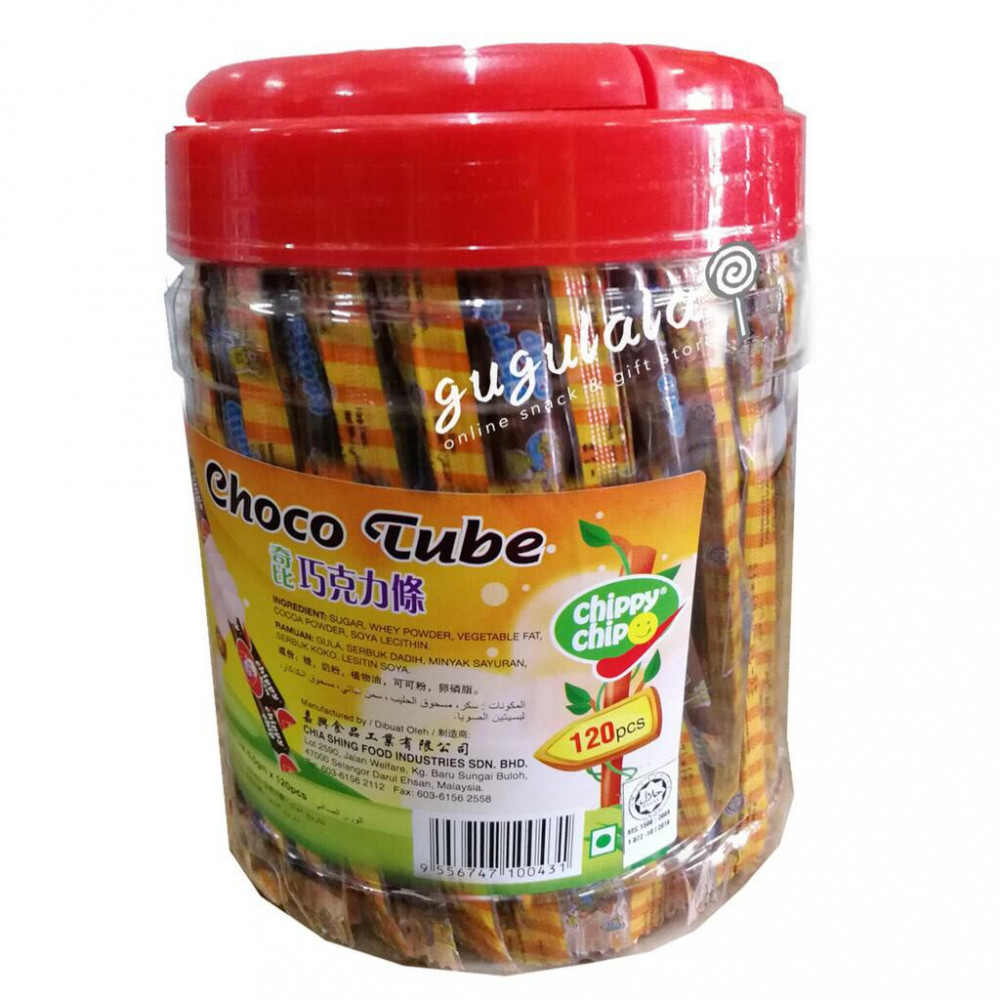 Chippy Chip Choco Tube 120'S