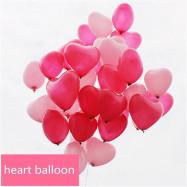 image of Heart Shaped Love Balloons Balloon 10'S