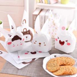 image of Cute Rabbit Goodies Bag ( Door Gift ) Cookies Packaging Size (M) - 10'S