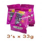 Lot 100 Gummy Blackcurrant 3'S X 33g