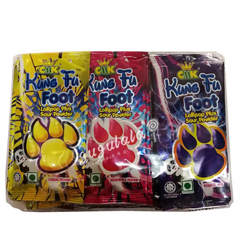 Kung Fu Foot Lollipop With Sour Powder 30'S
