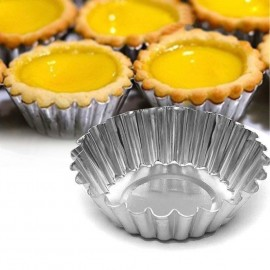 image of Egg Tart Mould Cake Mold 4.5cm suitable for Tart Presser