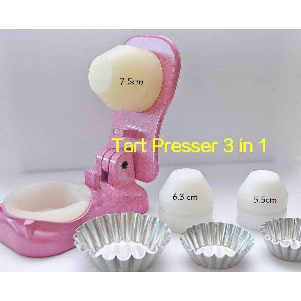 Tart presser 3in1 for 5.5cm / 6.3cm / 7.5cm