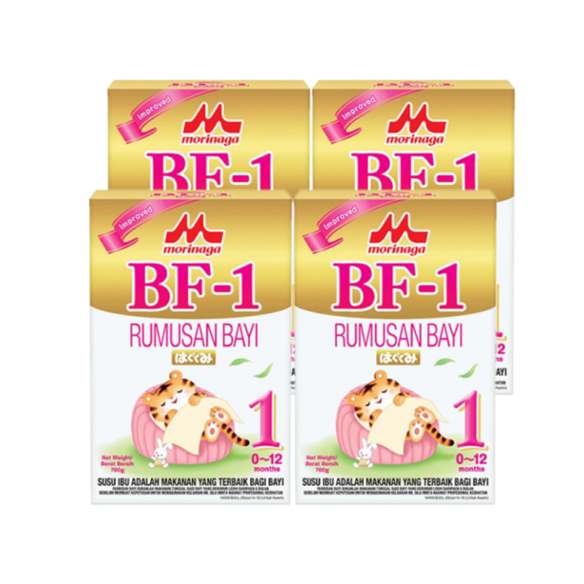 Morinaga BF-1 Step 1 (0-12 months) 700g x 4