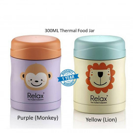 image of Relax 300ml 18.8 Stainless Steel Thermal Food Jar (Purple / Yellow)
