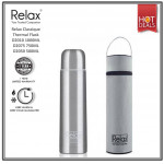 RELAX CLASSIC STAINLESS STEEL THERMAL FLASK WITH FREE POUCH D2050 500ml