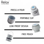 RELAX CLASSIC STAINLESS STEEL THERMAL FLASK WITH FREE POUCH D2075 750ml