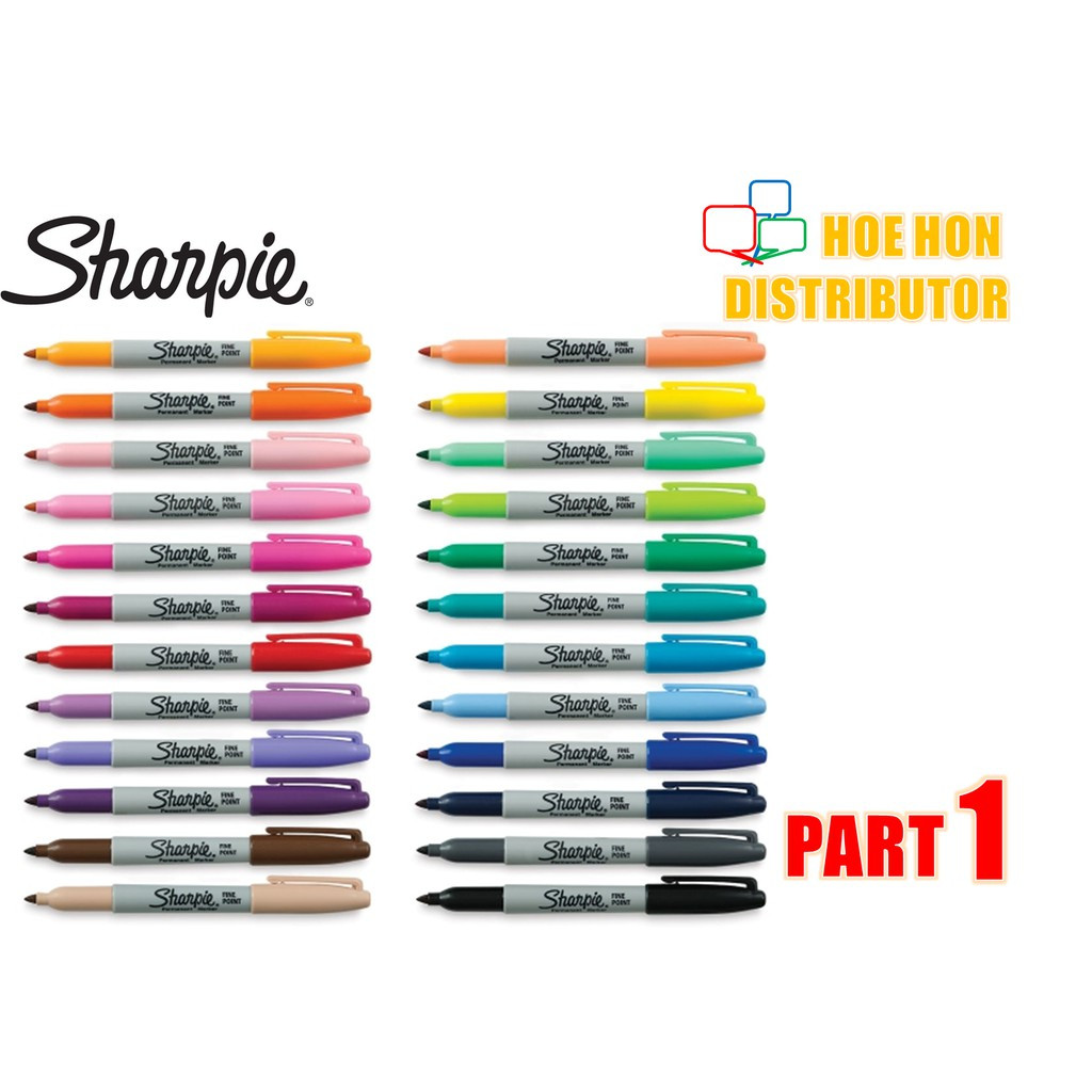 image of Sharpie Fine Point Permanent Marker / Customise Full Color Part 1