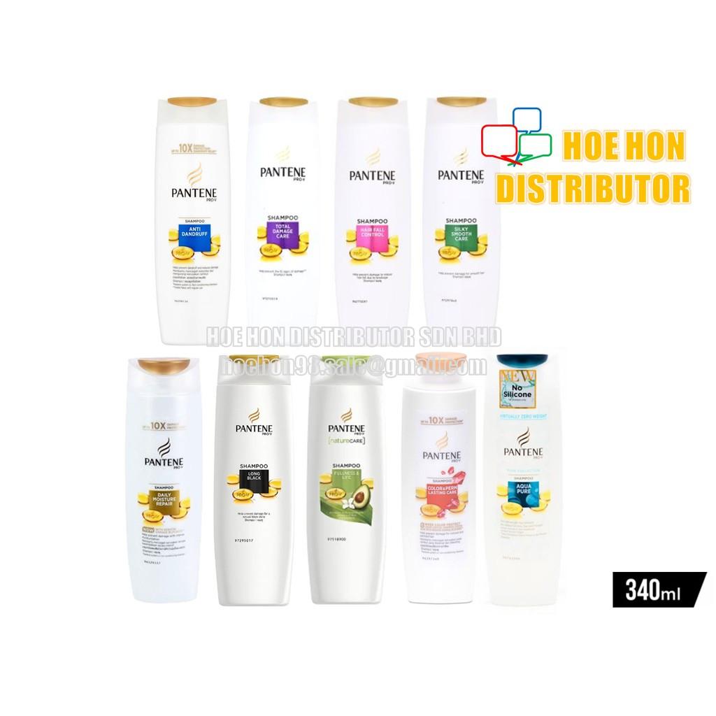 image of Pantene Hair Shampoo / Rambut 340ml Anti Dandruff Hair Fall Control Silky