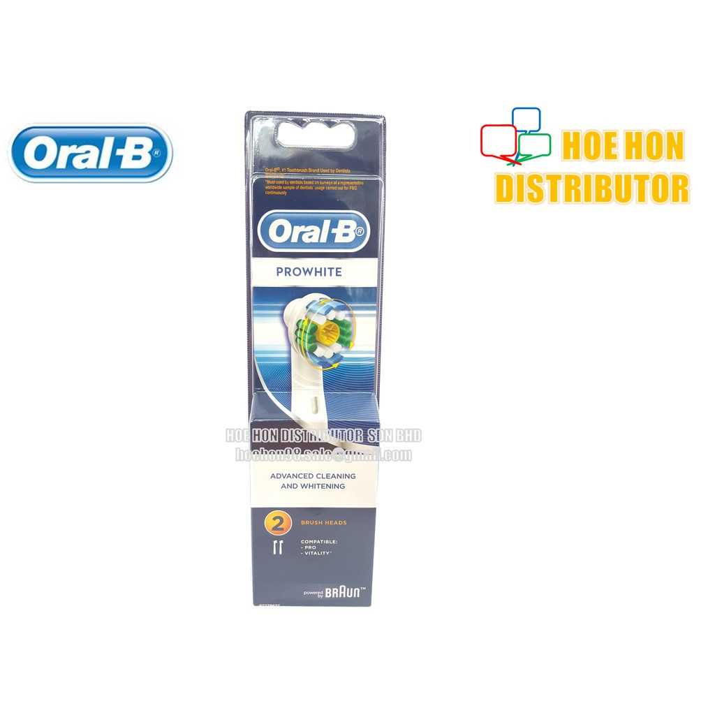 image of Braun Oral B Prowhite Brush Head 2pcs (Original) For Rechargeable Toothbrush