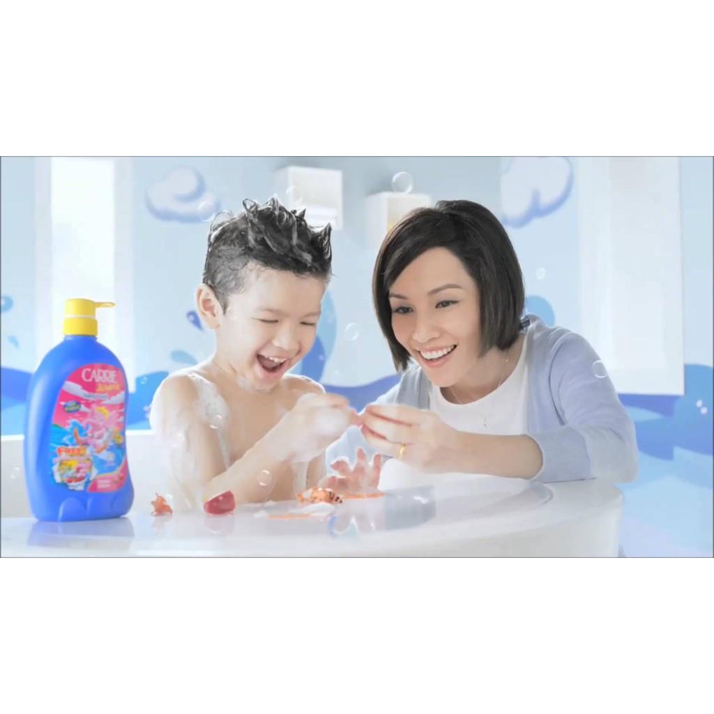 Carrie Junior Baby Hair & Body Wash Cherry Grapeberry Rasberry Milk Refill 500g