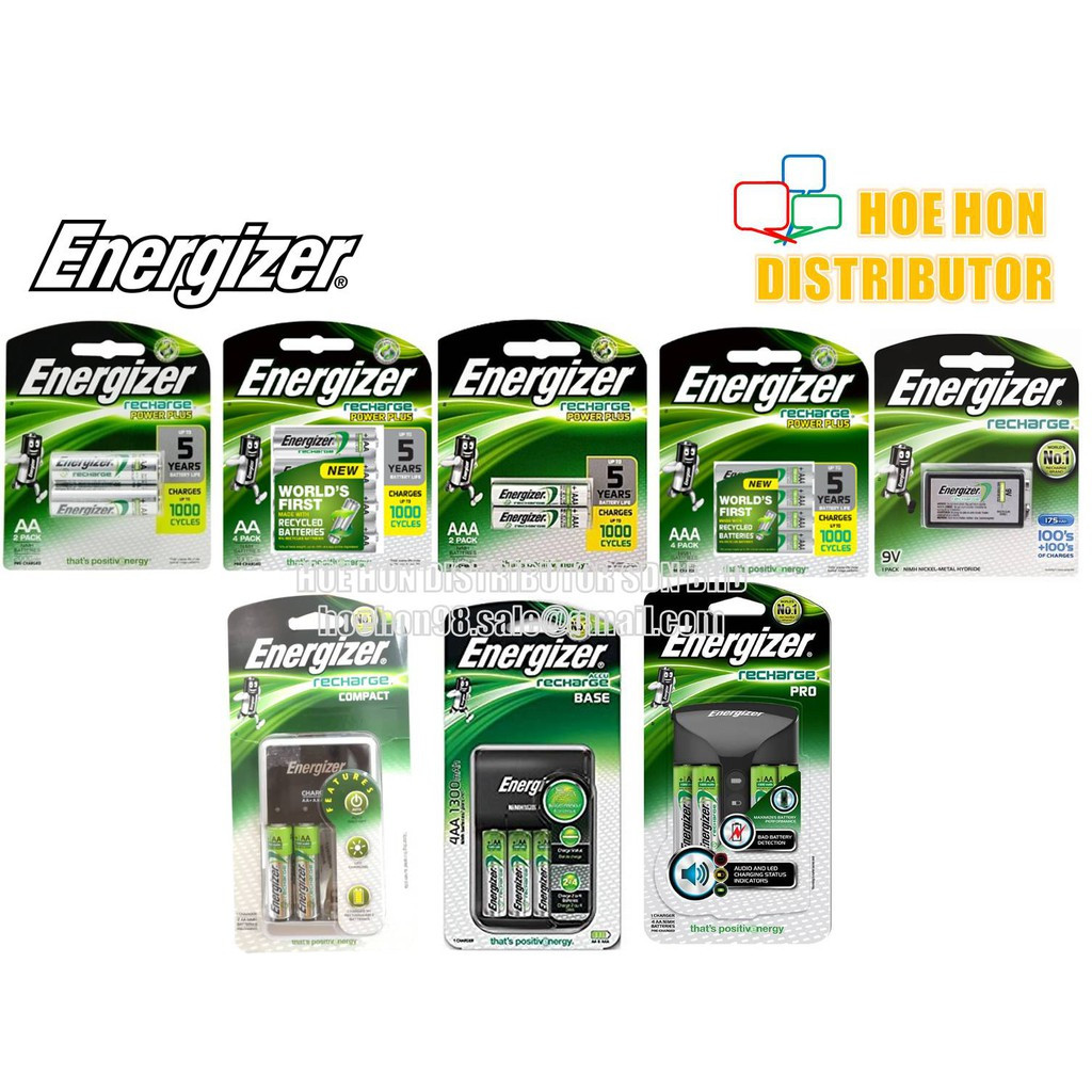 image of Energizer Powerplus AA / AAA Rechargeable Battery / Compact, Base, Pro Charger