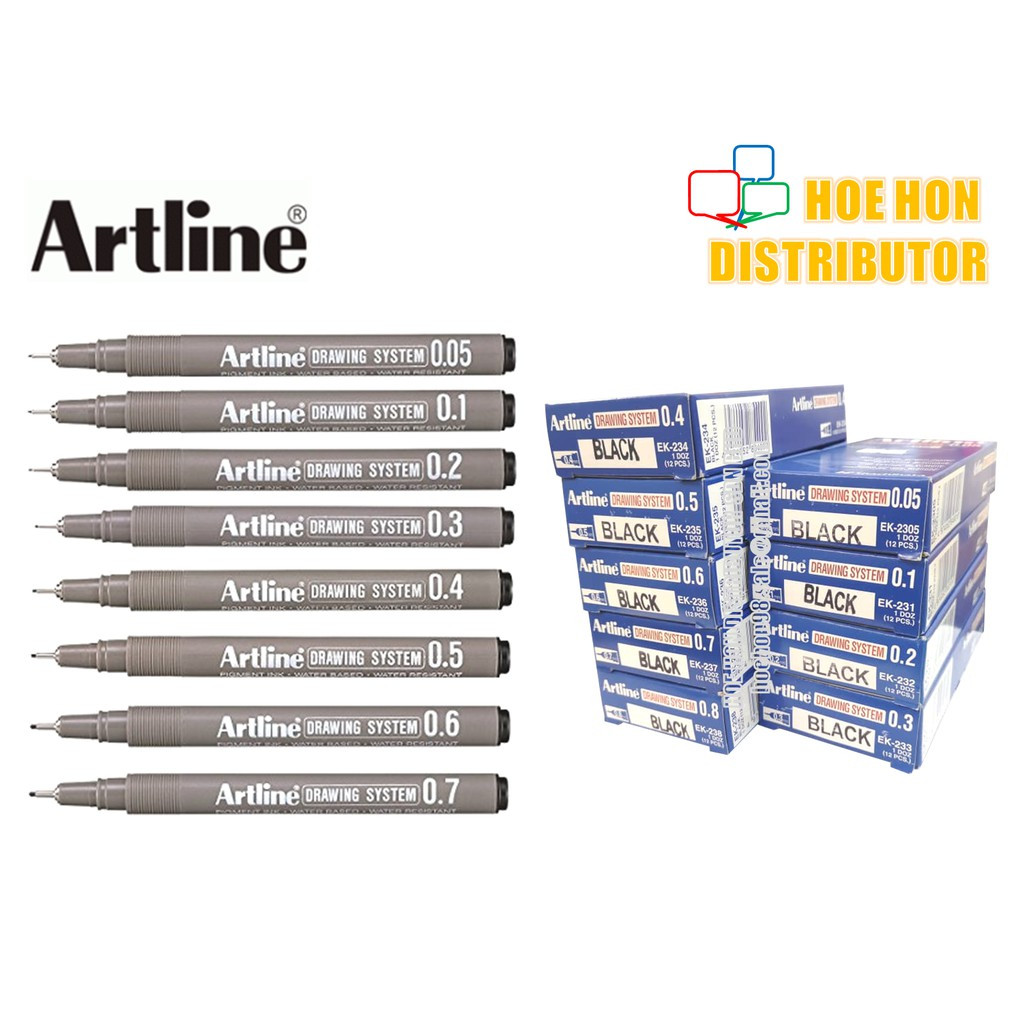 image of Artline Drawing System Graphic Design, Illustration, Document Pen