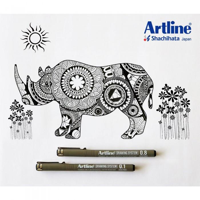 Artline Drawing System Graphic Design, Illustration, Document Pen