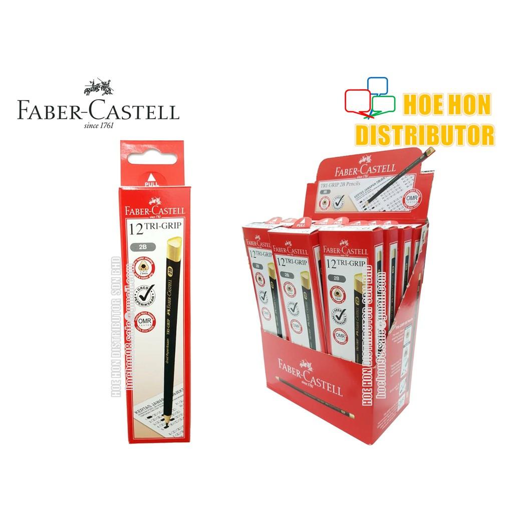 Faber Castell / Faber-Castell Trip Grip Exam Grade 2B Pencil Gred Peperiksaan