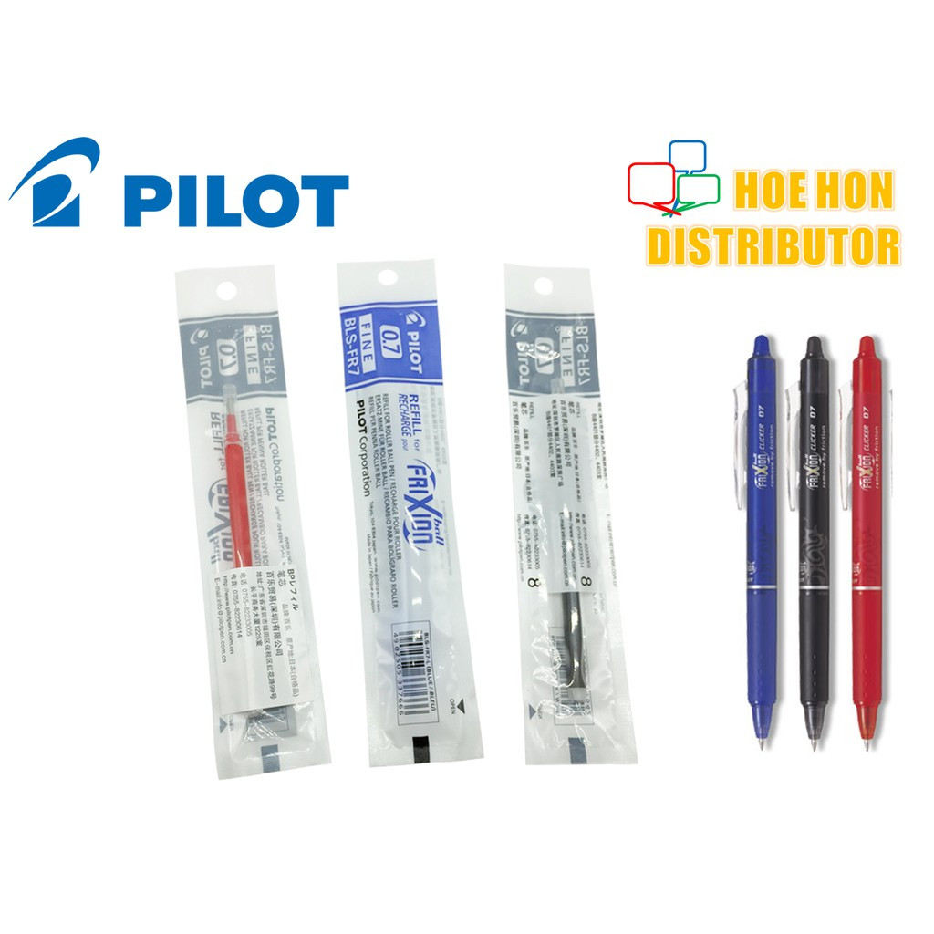 image of Pilot Frixion Clicker 0.7mm Fine Erasable Roller Ball Gel Pen Refill