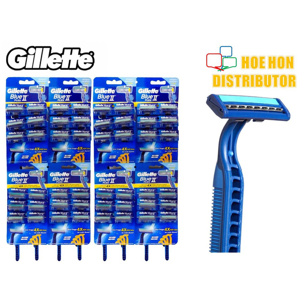 image of Gillette Blue II / Blue 2 Plus Disposable Razor 1 Unit (ORIGINAL) Pisau Cukur