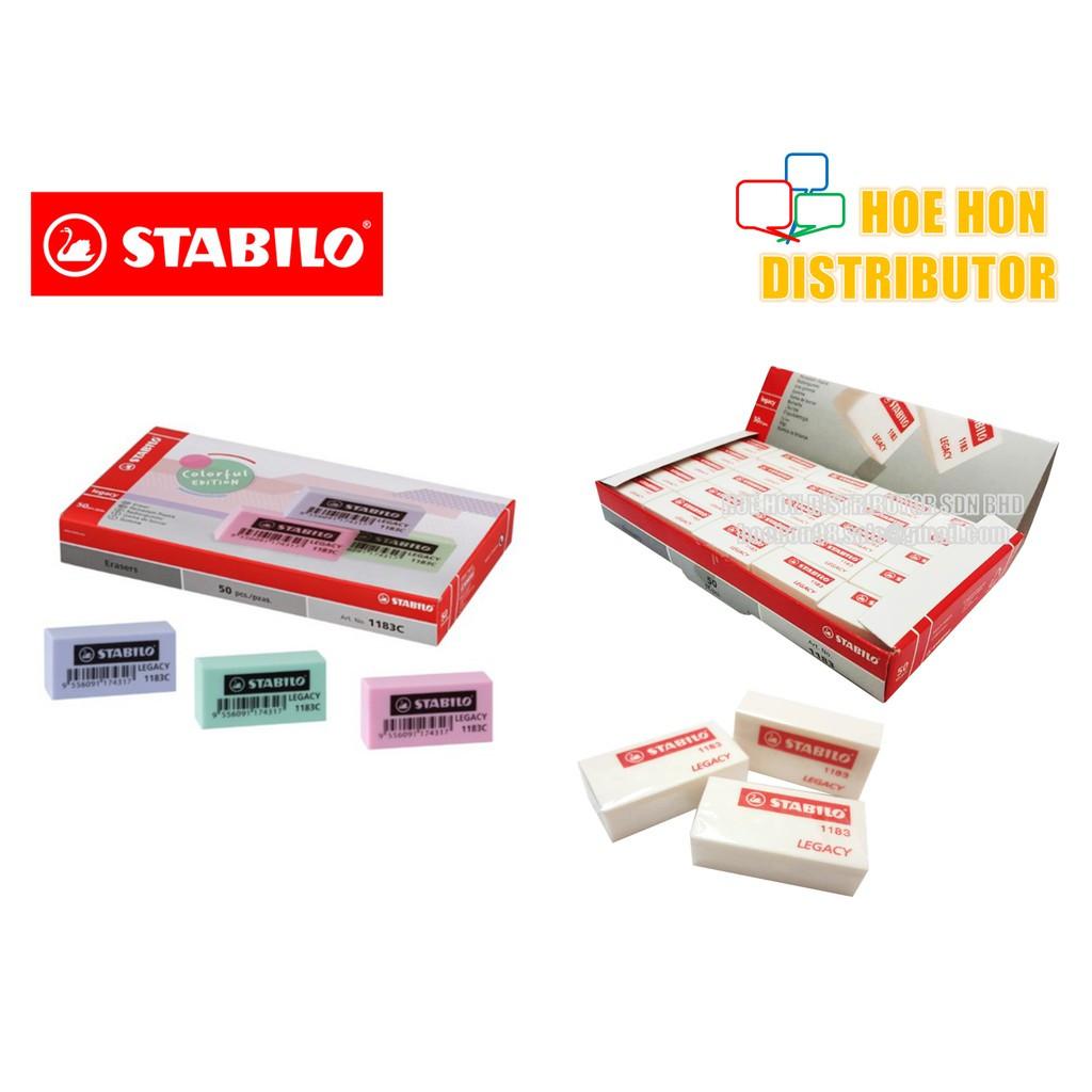 image of Stabilo Legacy Eraser / Rubber / Pemadam 1183 / 118350 / 1183C Colour