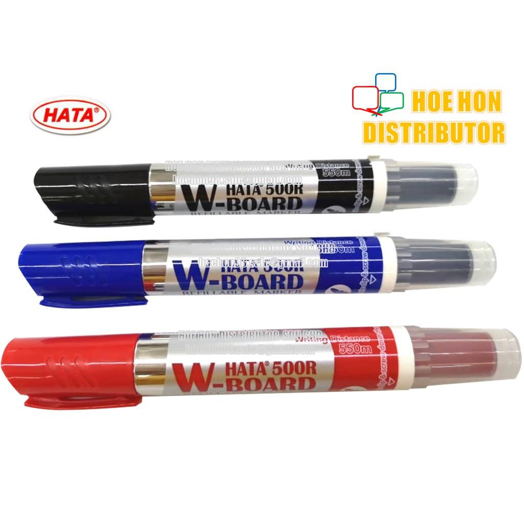HATA Refillable Whiteboard Marker 500R (Pilot V Board Master Alternative)