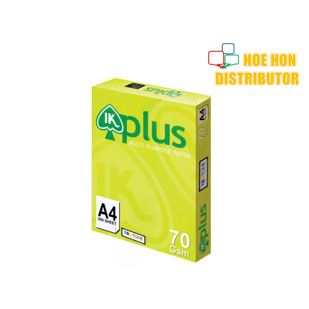 image of IK Plus A4 Paper 70 Gsm 500 Sheets/ Ream (IK Green, IK Yellow)