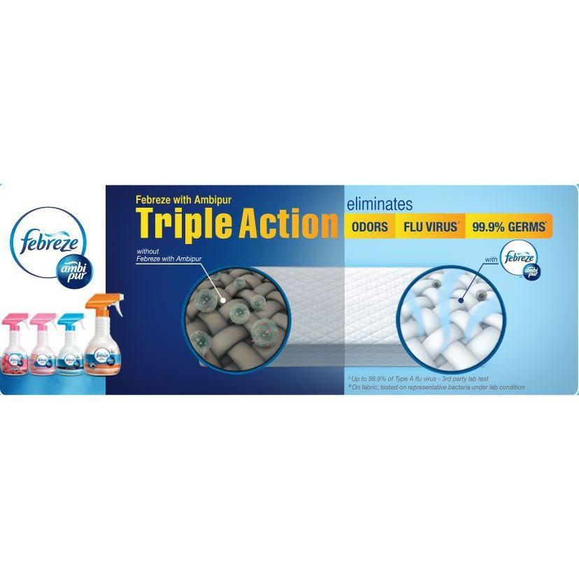 Febreze Fabric Refresher With Ambi Pur Spray 200ml / Penyegar Kain Febreze
