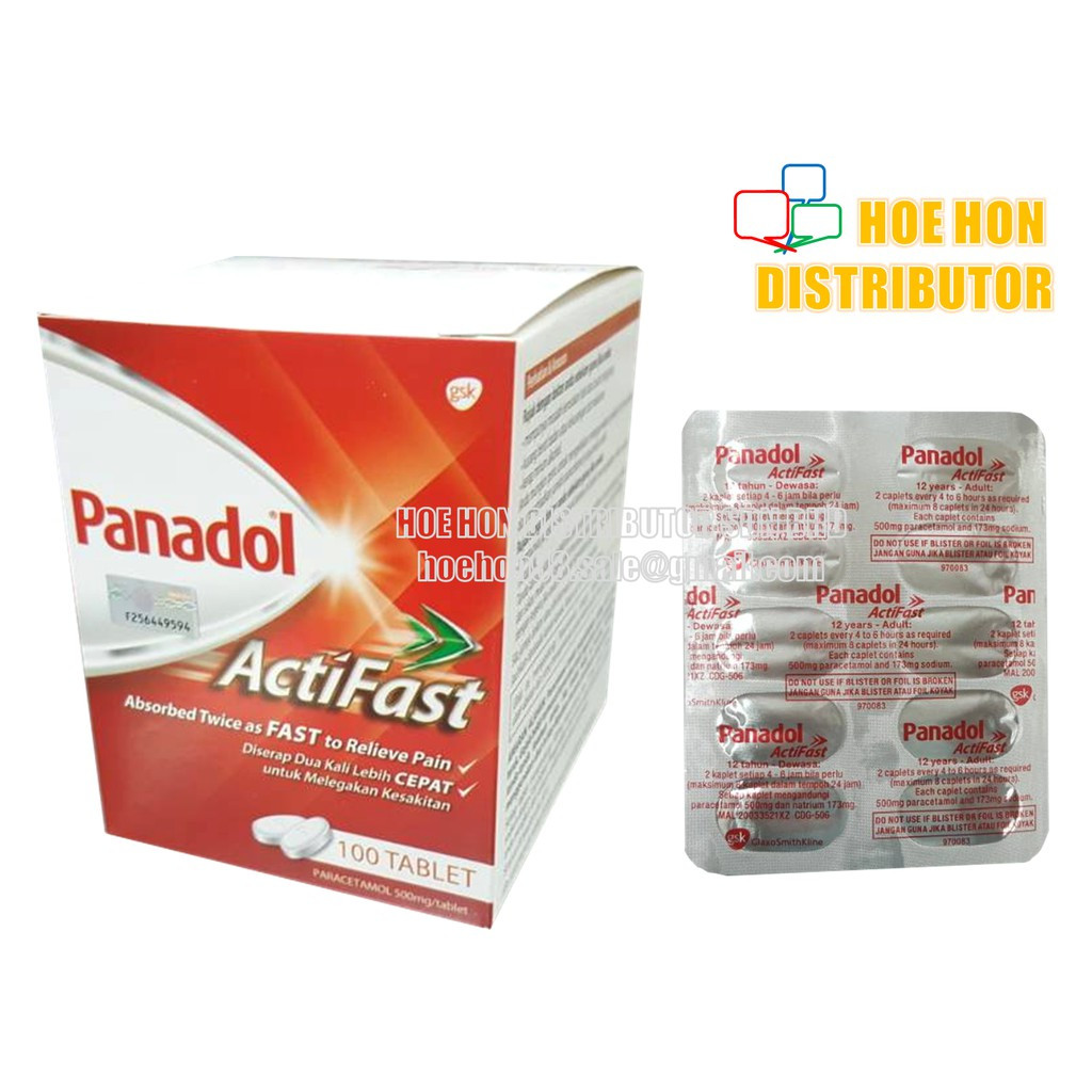 image of Panadol Actifast 10 Tablets / Strip Headache, Paracetamol, Fever
