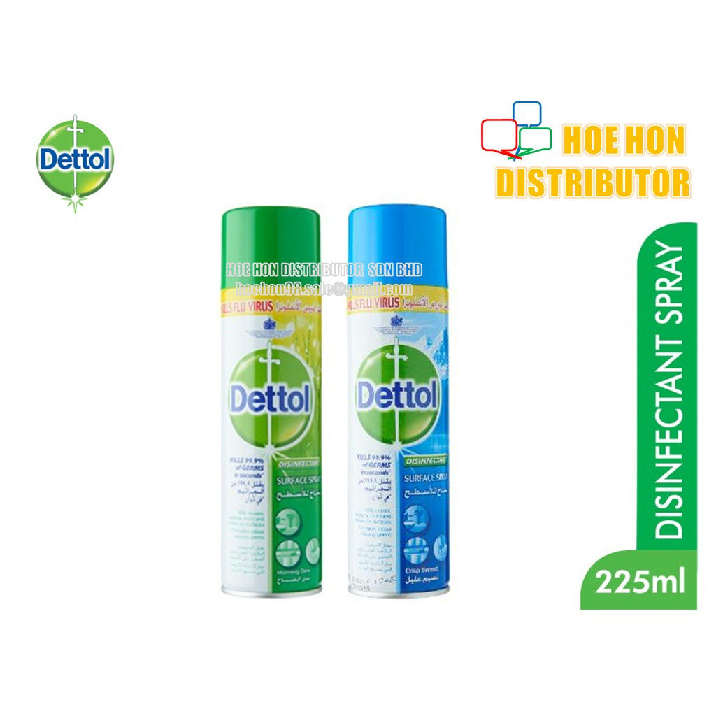image of Dettol Disinfectant Surface Spray Morning Dew / Crisp Breeze 225ml