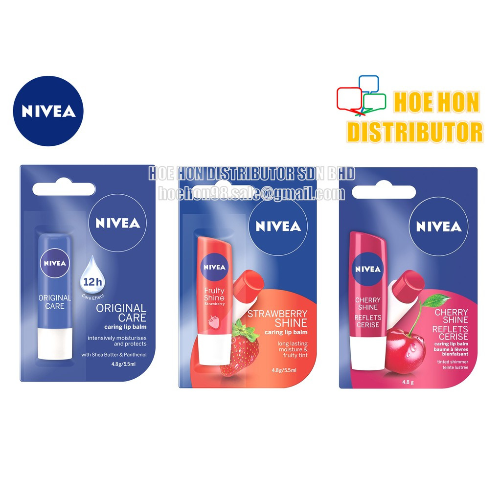 image of Nivea Caring Lip Balm 4.8g / 5.5ml