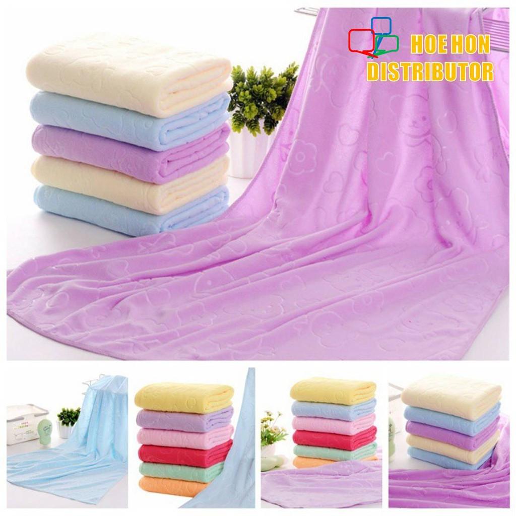 image of Big Soft Microfiber Baby / New Born / Children / Adult Bath Towel Cloth