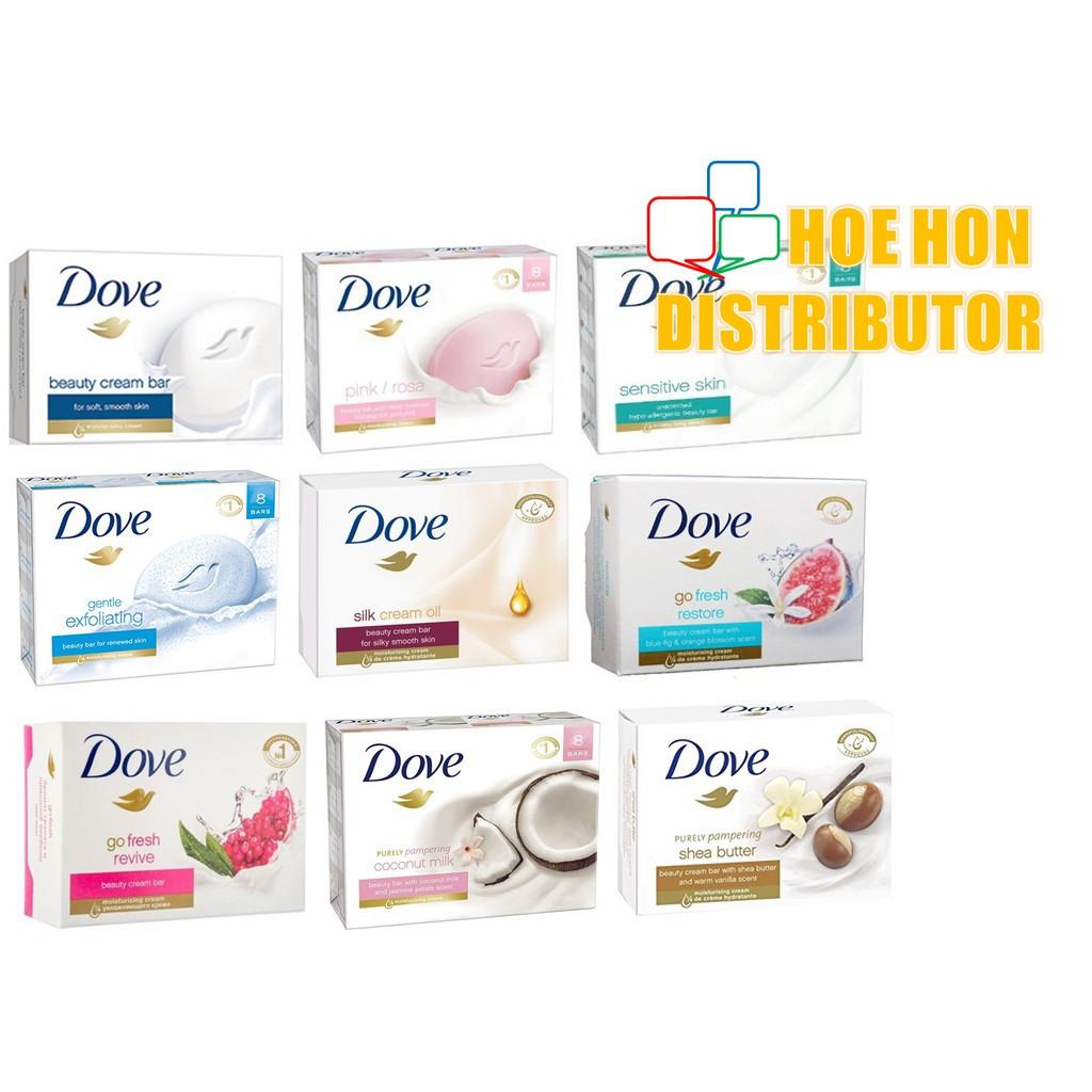 image of Dove Beauty Cream Bar 135g (# Lifebuoy Soap)