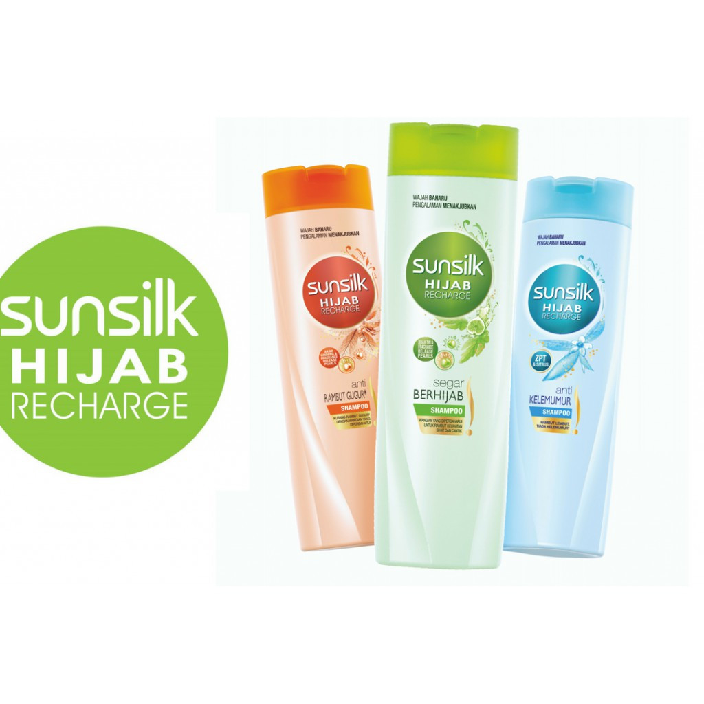 Sunsilk Shampoo 160ml Syampu Rambut Hijab Anti Dandruff, Hairfall Solution
