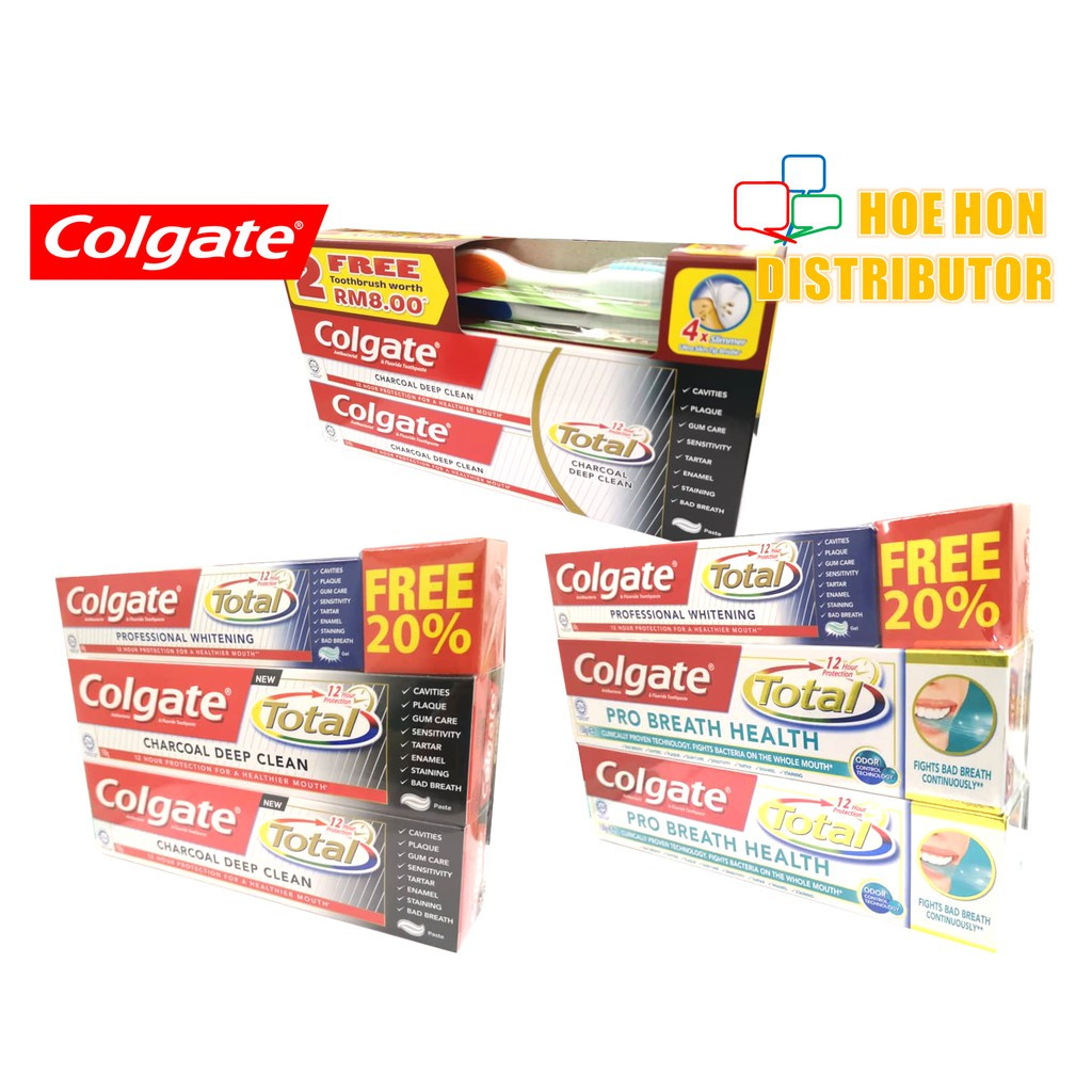 image of [Promotion] Colgate Total Charcoal Deep Clean / Pro Breath Health 150g X 2