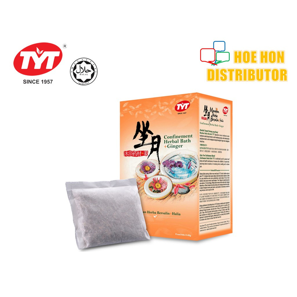 TYT Confinement Herbal Bath + Ginger / Mandian Herba Bersalin + Halia 8 Sachet