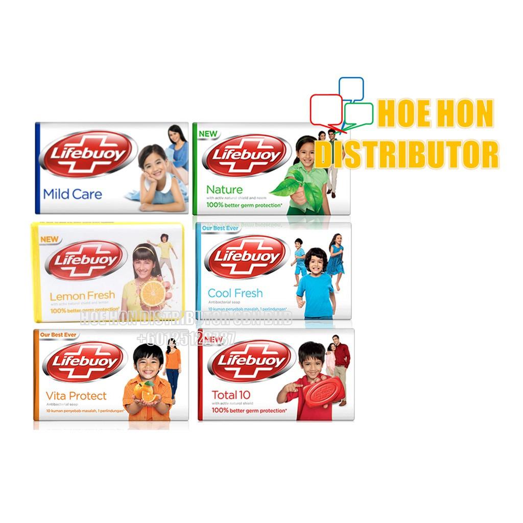 image of Lifebuoy Bar Soap 75g X 3pcs Total 10, Mind Care, Lemon Fresh, Nature Pure