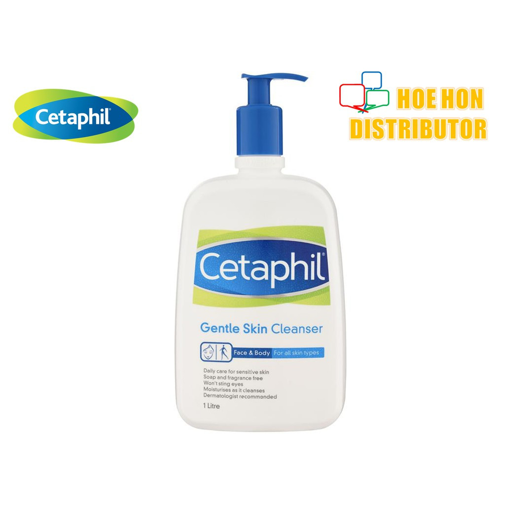 image of Cetaphil Face & Body Gentle Skin Cleanser 1000ml (For All Skin Type) 1L P51246-3