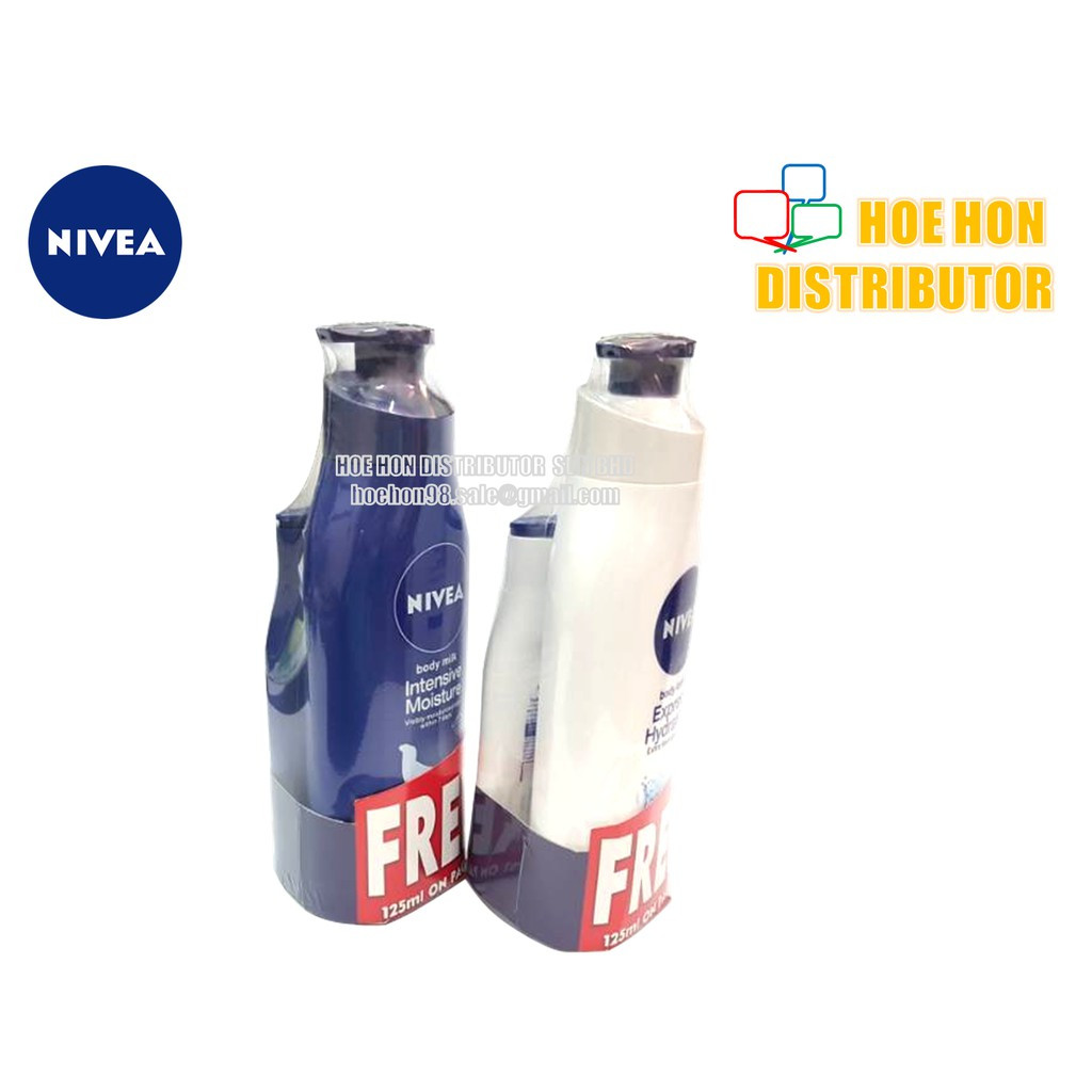 Nivea Body Lotion 400ml Free 125ml