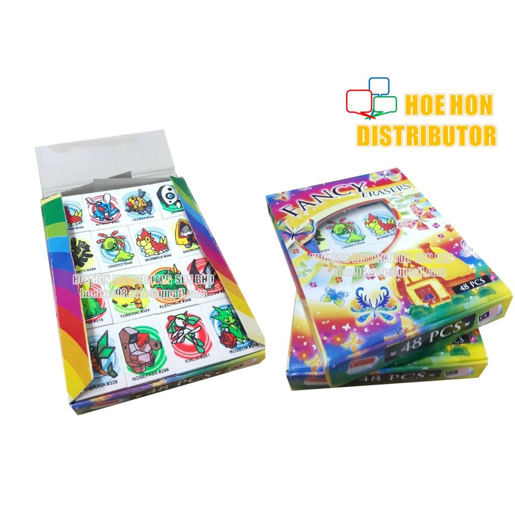 image of Pokemon Go / Marvel / DC Hero Fancy Eraser / Rubber 48pcs