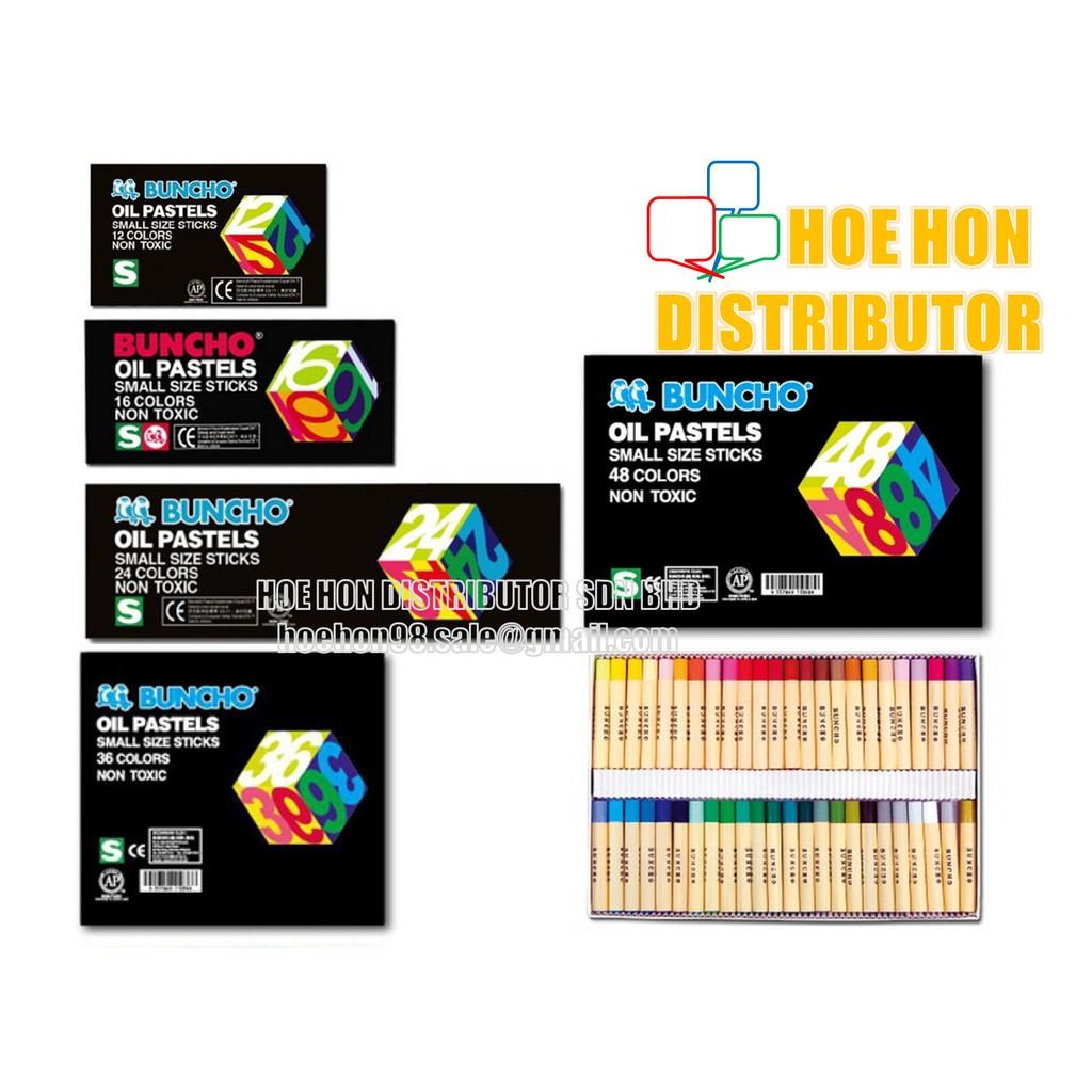 image of Buncho Oil Pastel / Pastels / Crayon Color / Warna Krayon 12c 16c 24c 36c 48c